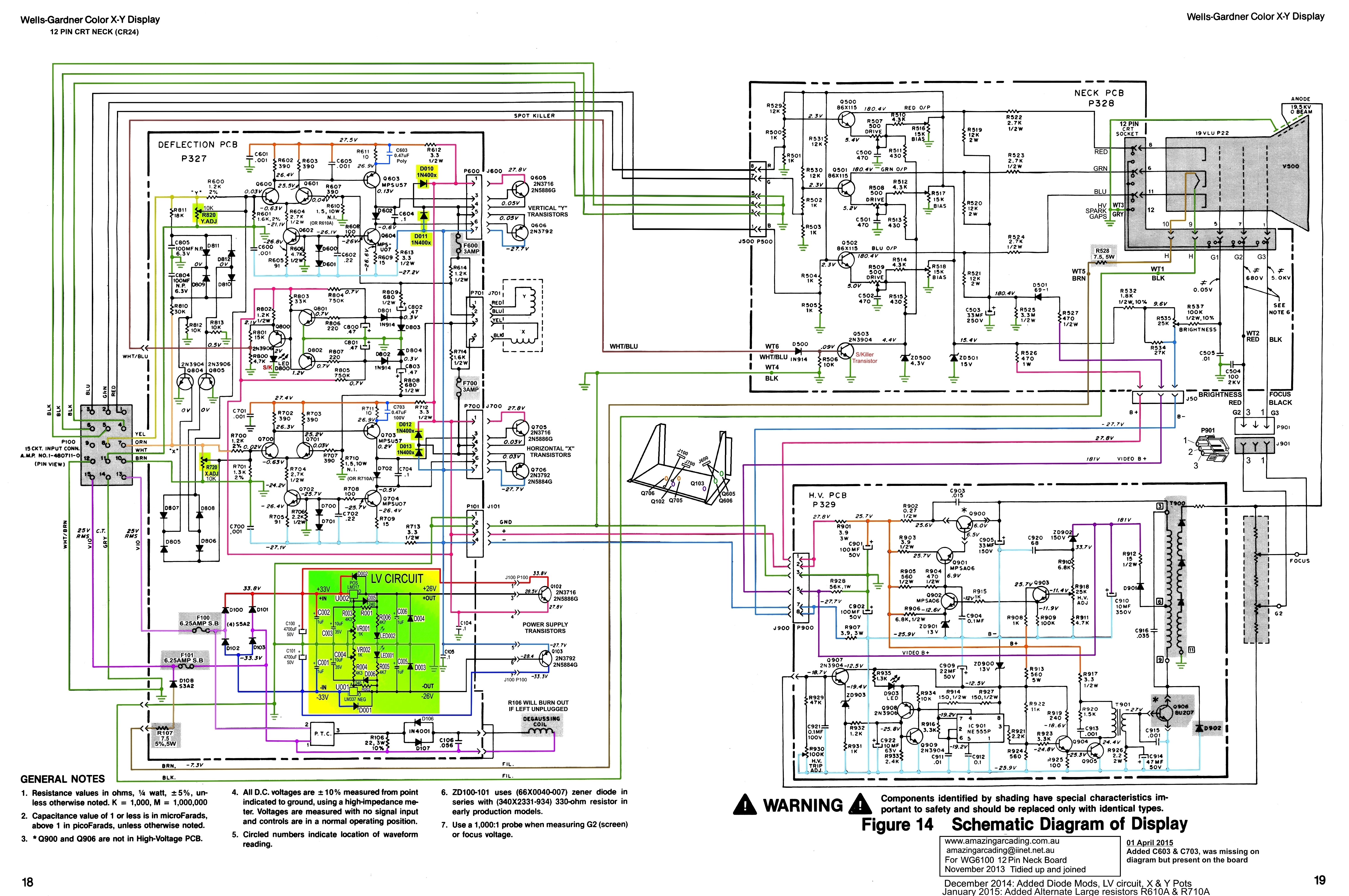 Dezbazs Wg6100 Monitor Page Crt Diagram Color Version Of This